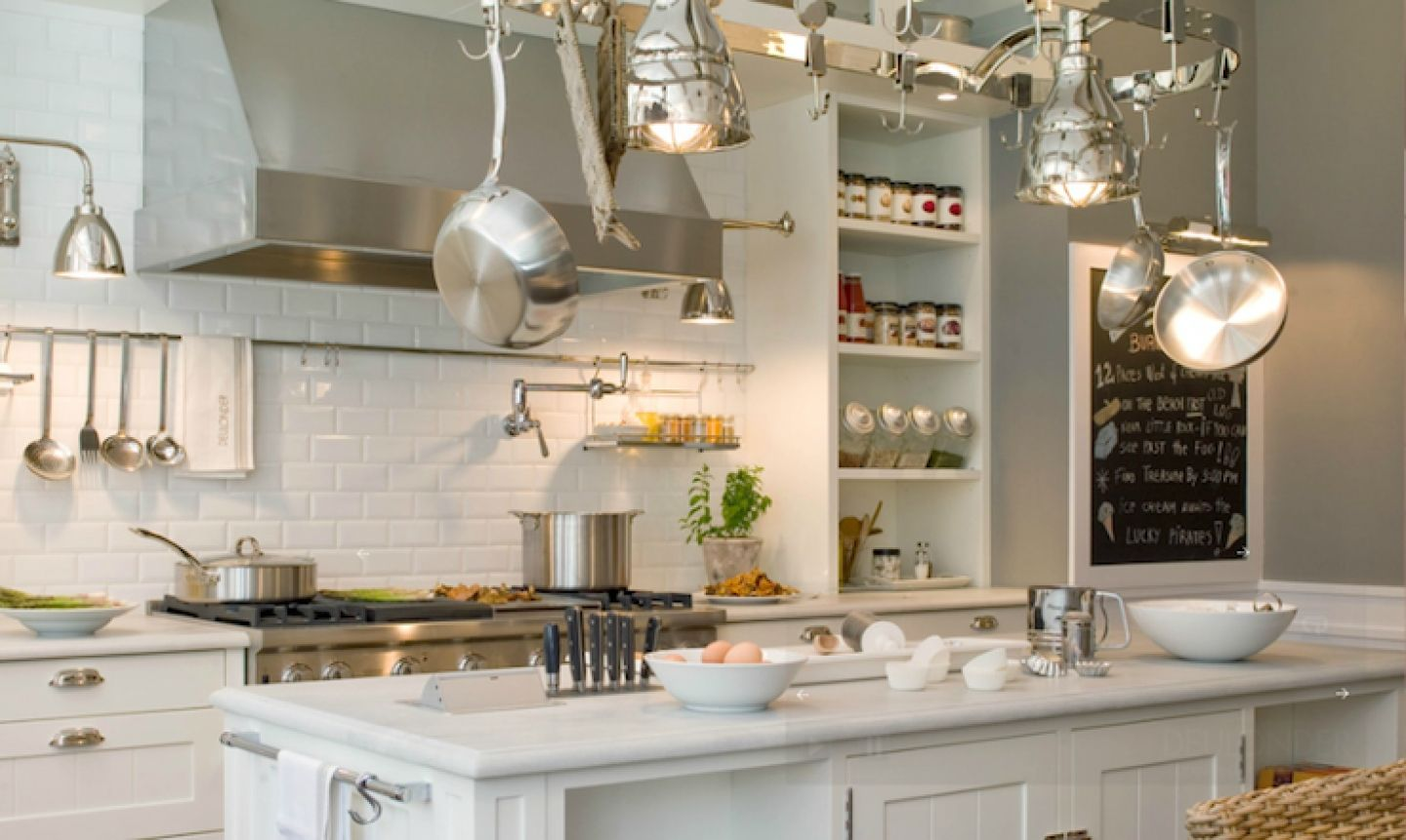 White And Grey Galley Kitchen Kitchens With White Cabinets White Subway Tiles For Back Splash