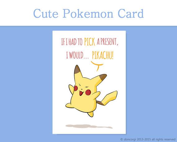 pokemon card if i had to pick a present i would pikachu nintendo