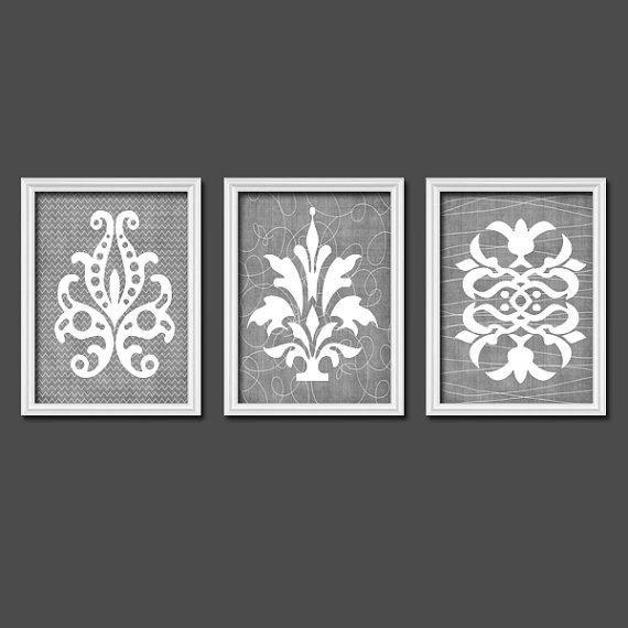 Grey Wall Decor Pinterest : Ideas about chevron pattern decor on