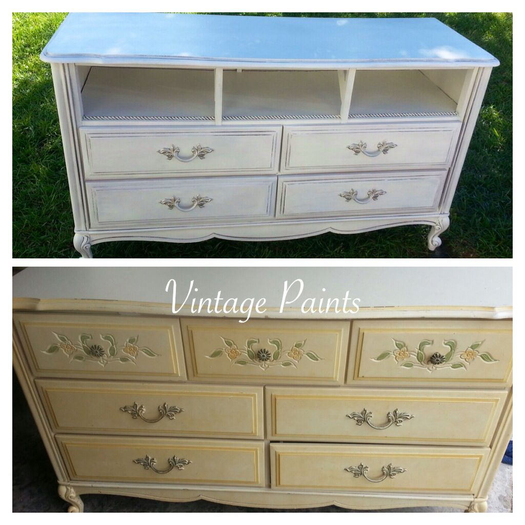 Best Old French Provincial Dresser Painted White And Turned 400 x 300