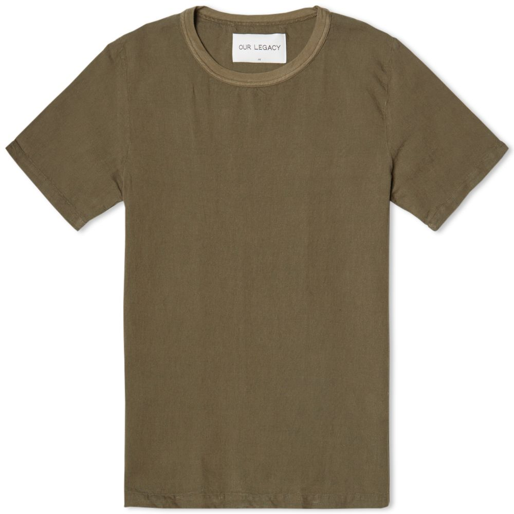 OUR LEGACY WEAVED TEE Clay Olive