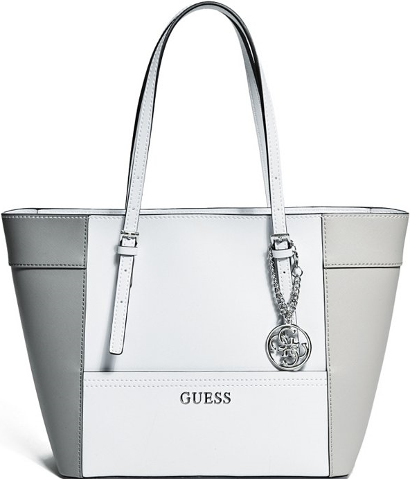 4d55b01269 Guess Cloud Multi Delaney Color-Blocked Small Classic Tote ...