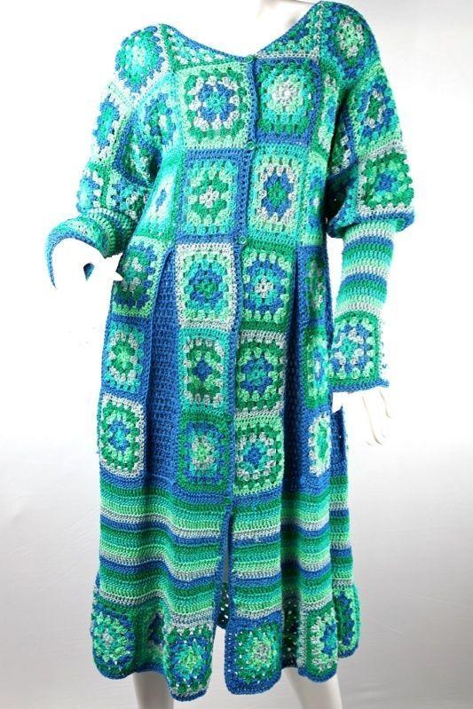 cheap for discount 6d7c9 b3dd5 Häkelmantel Mantelkleid Häkelkleid Mantel Kleid Unikat ...