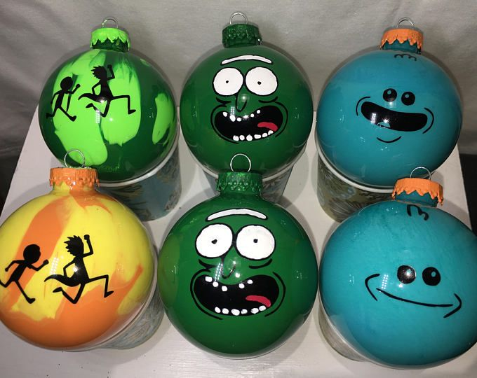 Rick And Morty Christmas Ornaments.Limited Rick And Morty Christmas Ornament Set Of 6 Pickle