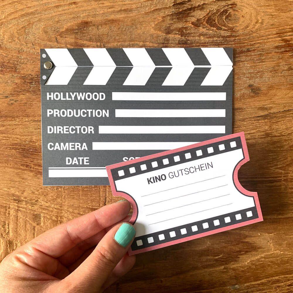 Kinogutschein als Filmklappe basteln | mini-presents Blog #kinogutscheinbasteln
