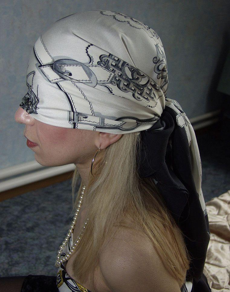 Silk scarf blindfold