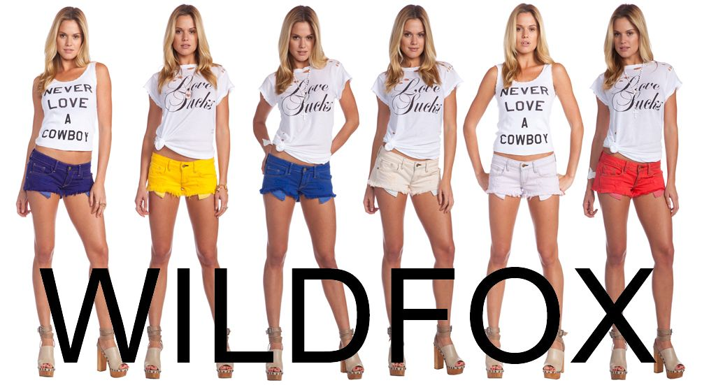 Wildfox color denim shorts now available!! Comes in tons of colors, with a really cool distressed vintage look and feel. And they fit amazing!!