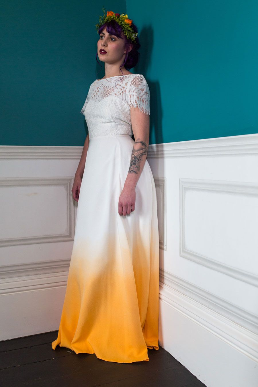 Colourful quirky wedding dresses for nontraditional