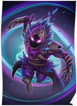 Fortnite Battle Royale Raven Epic Skin Fan Art Poster Products