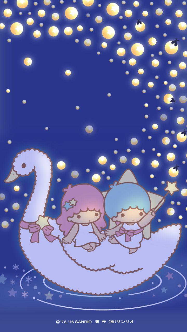 little twin stars wallpaper 2016 七月桌布日本官方twitter票選螢火蟲版 stargazer キキララ壁紙 キティの壁紙 ハローキティの壁紙