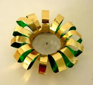 Basteln Mit Teelichter teelichter aus goldpapier weihnachten basteln meine enkel und