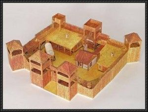 Old Fort Western Free Papercraft Download Paper Models Paper Pattern Free Fort Western