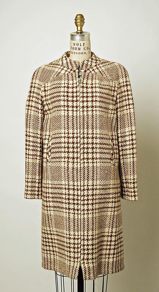 1967, America - Coatdress by B.H. Wragge - Wool, synthetic