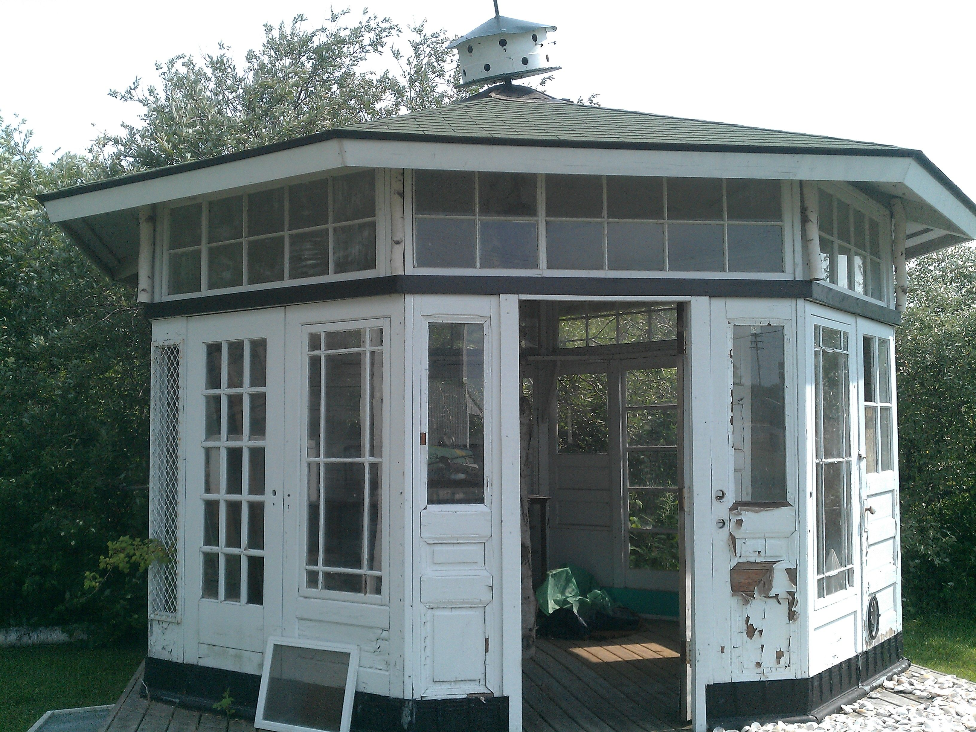 garden house made from salvage by bob thomas at his store monumental finds - Garden Sheds Michigan