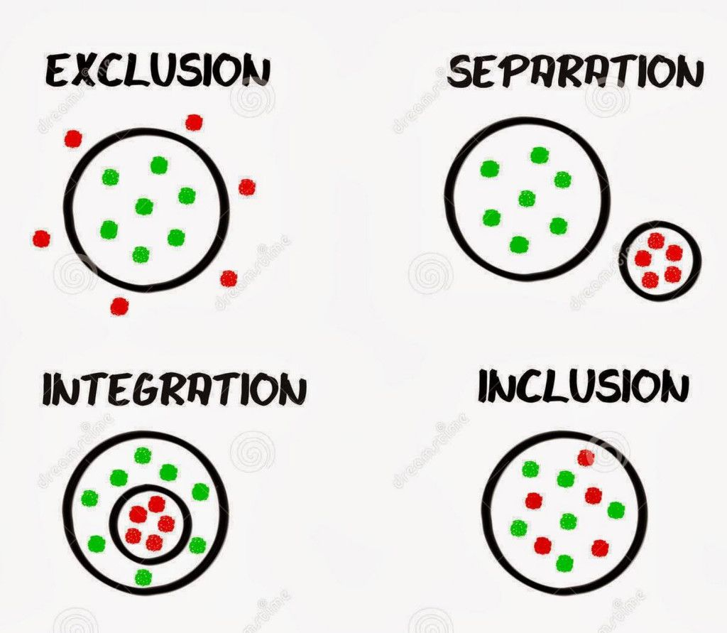Diagram Of Inclusion And Segregation