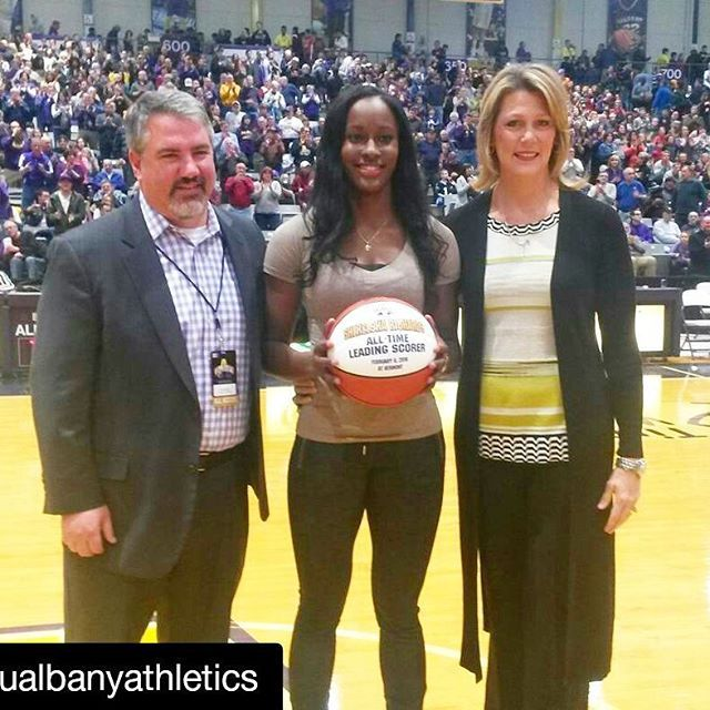 Shereesha Richards Of Ualbanywbb Was Honored For Being The All