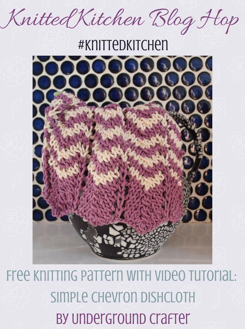 Knitting Pattern: Simple Chevron Dishcloth | Pinterest