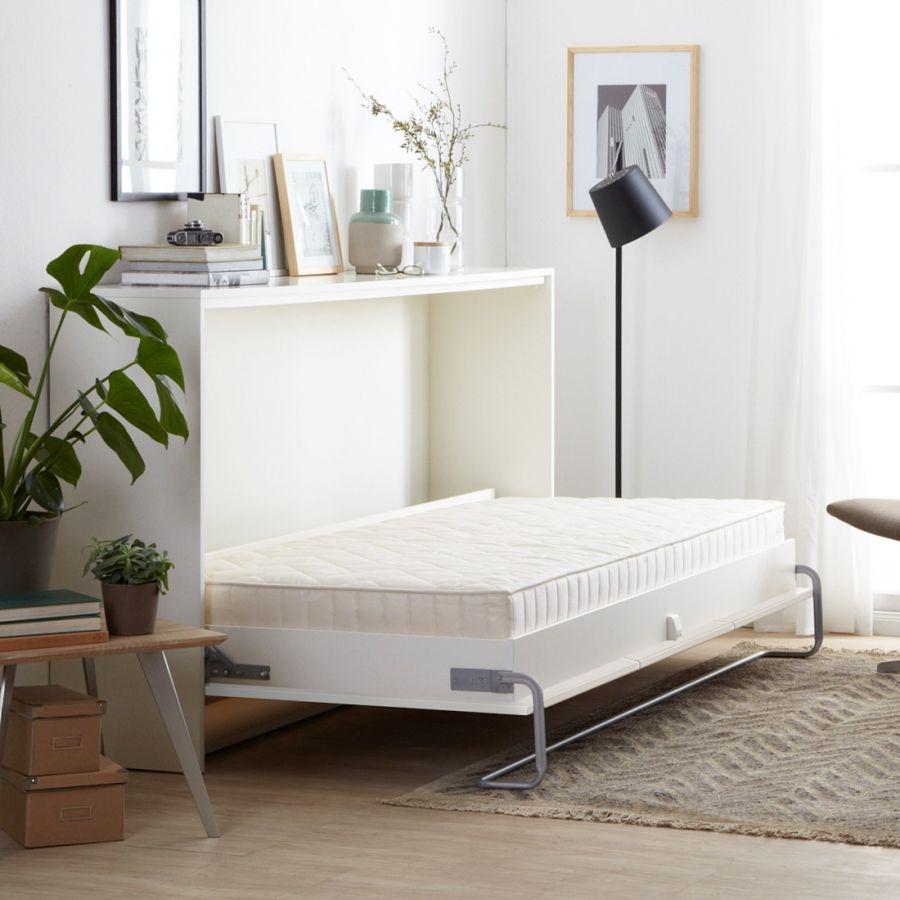 Schrankbett Godia - 90 x 200cm - Ohne Matratze - Weiß | Ideen ...