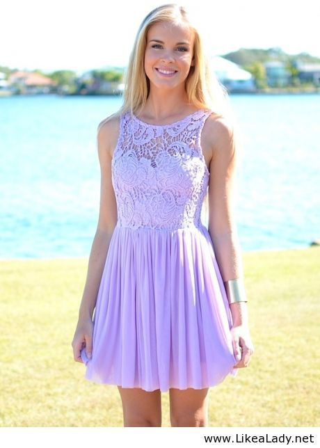 2fd888fdf881 Cute summer dress! Lilac Dress, Light Purple Dresses, Lavender Lace Dress,  Pastel