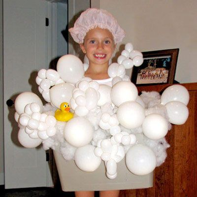 Next year's halloween costume - Bubble Bath! I'd replace the tub with a grey skirt, though.
