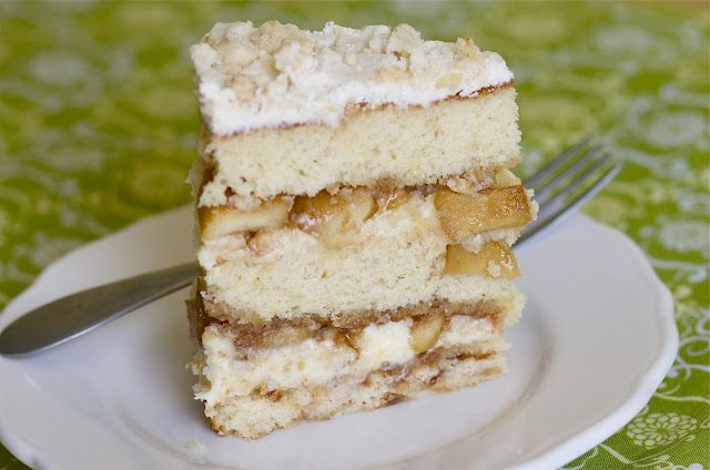 Apple Pie Layer Cake Get In My Mouth Pinterest Apple Pie Pies