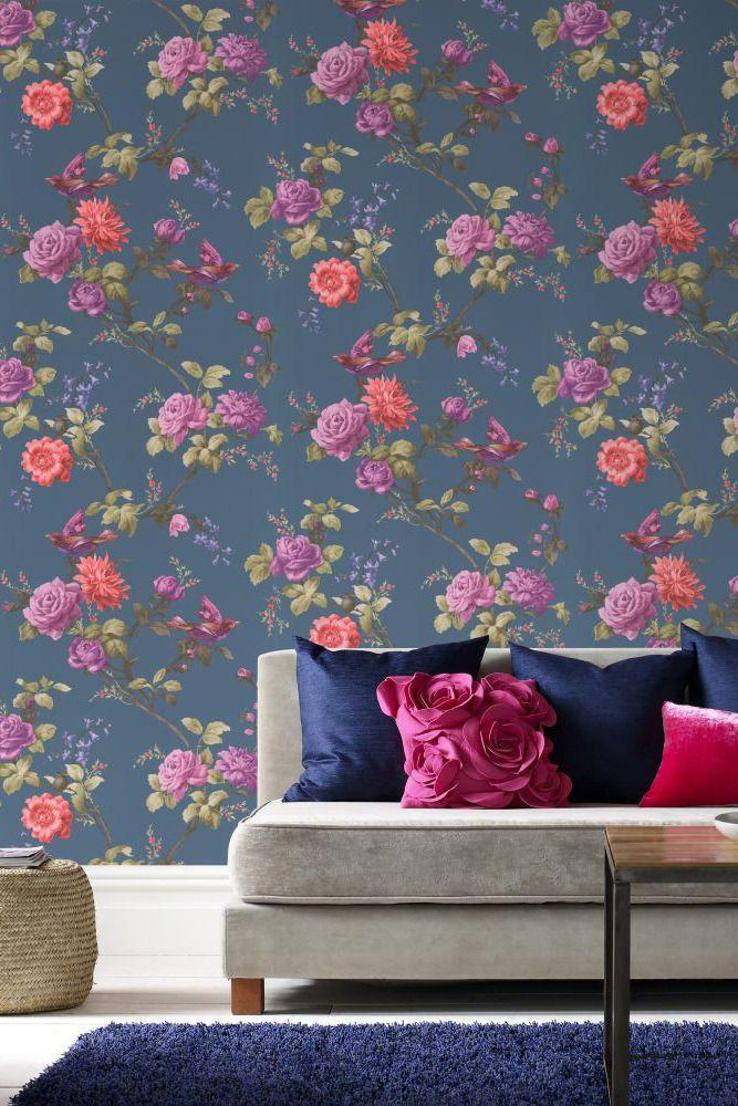 Pin by bianca on decor Pink damask wallpaper, Wallpaper