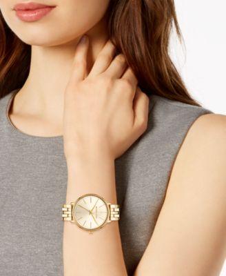87d1f72a2b625c Michael Kors Women's Pyper Gold-Tone Stainless Steel Bracelet Watch 38mm -  Gold