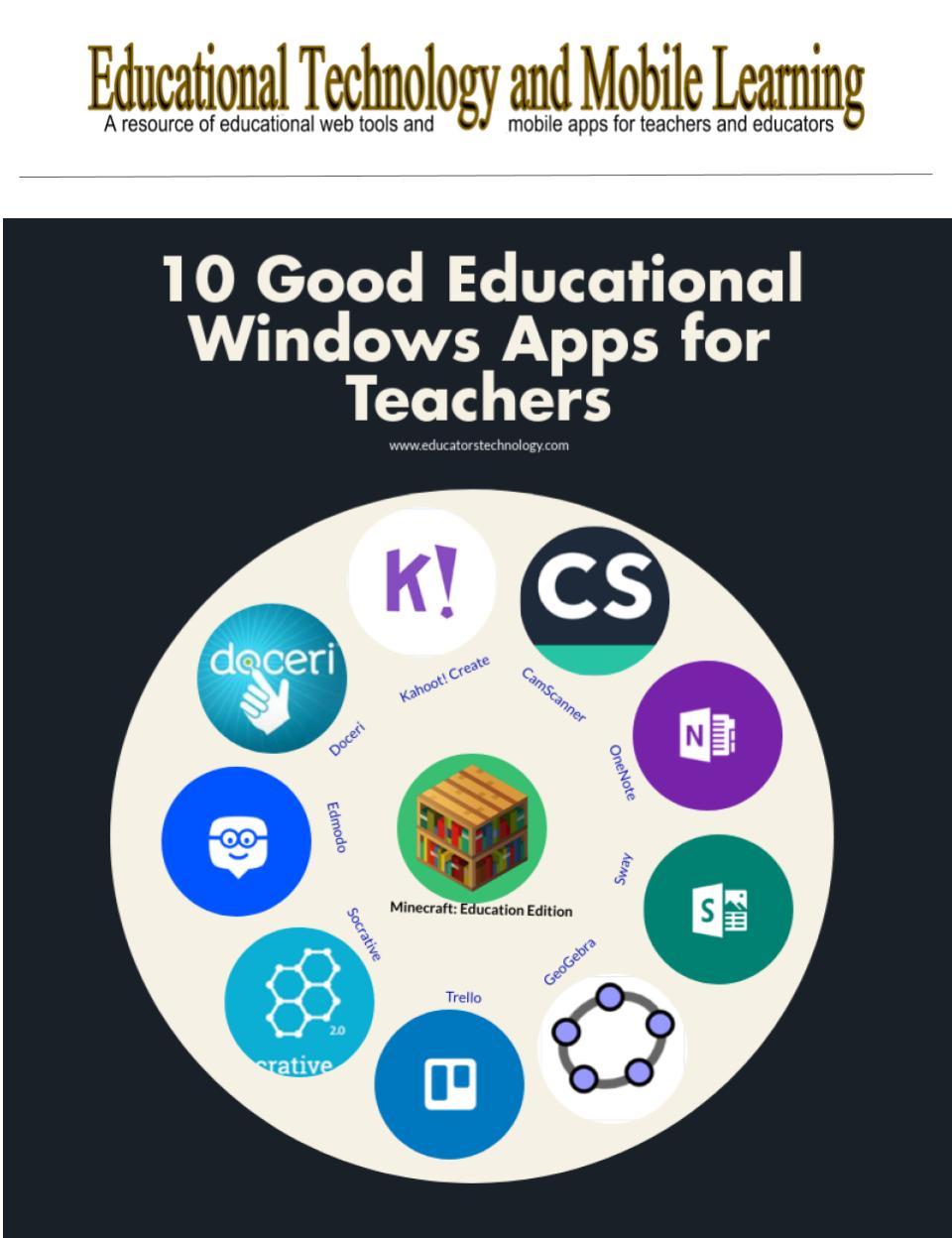 10 Great Educational Windows Apps For Teachers Apps For Teachers