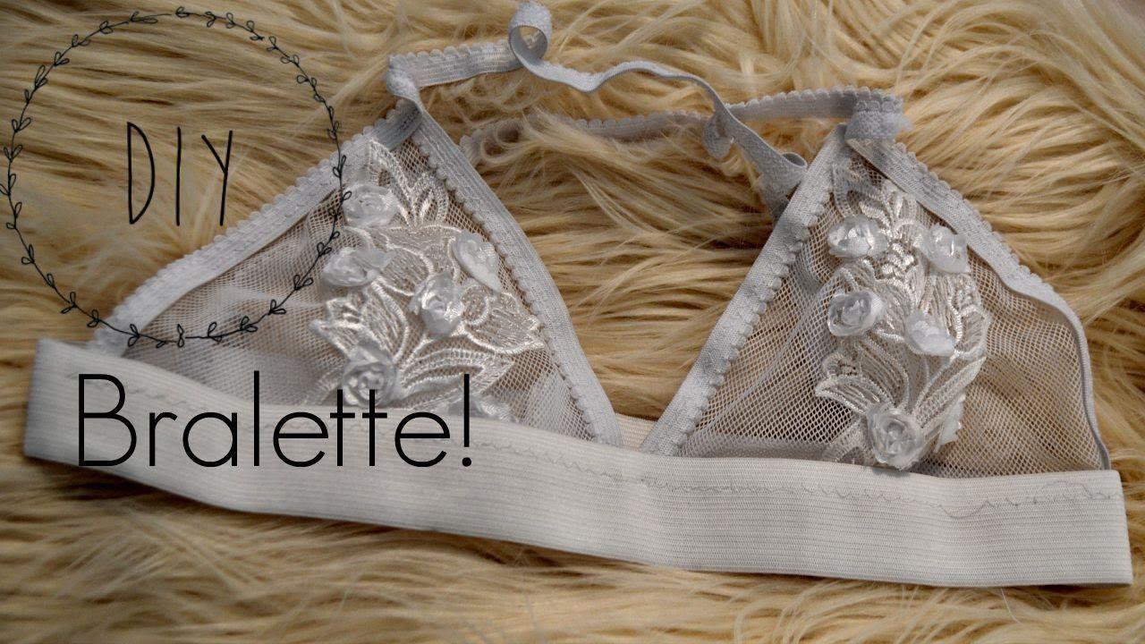 Bonito El Modelo De Costura Libre Bralette Festooning - Manta de ...