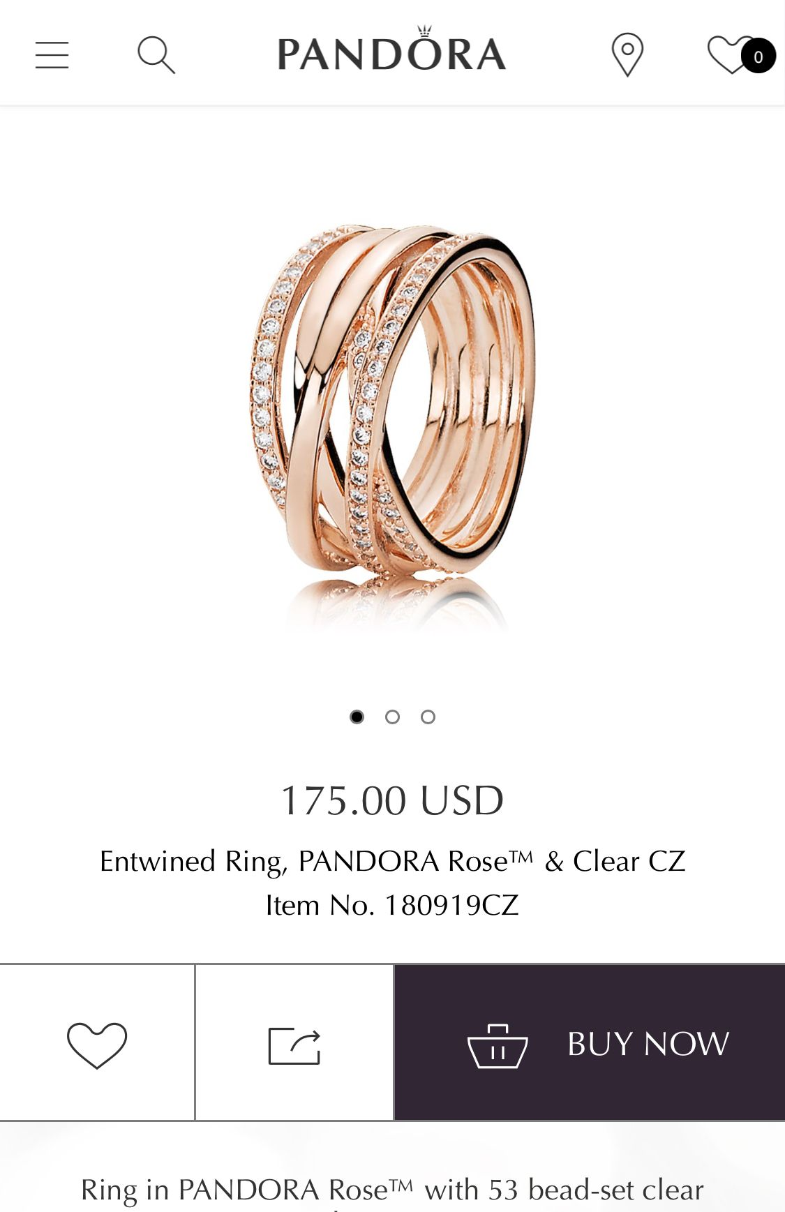 b89d5882b Pin de Felicity Riggin en My Style! | Pandora entwined ring, Gold ...