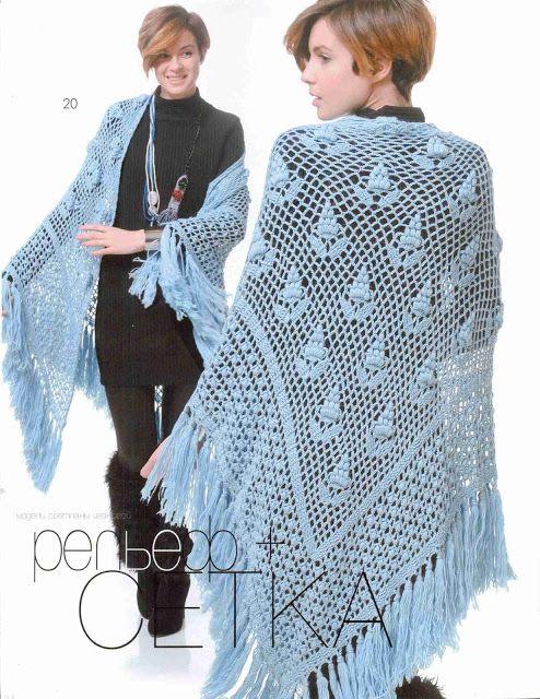 Patrón #1362: Poncho a Crochet | CTejidas [Crochet y Dos Agujas]