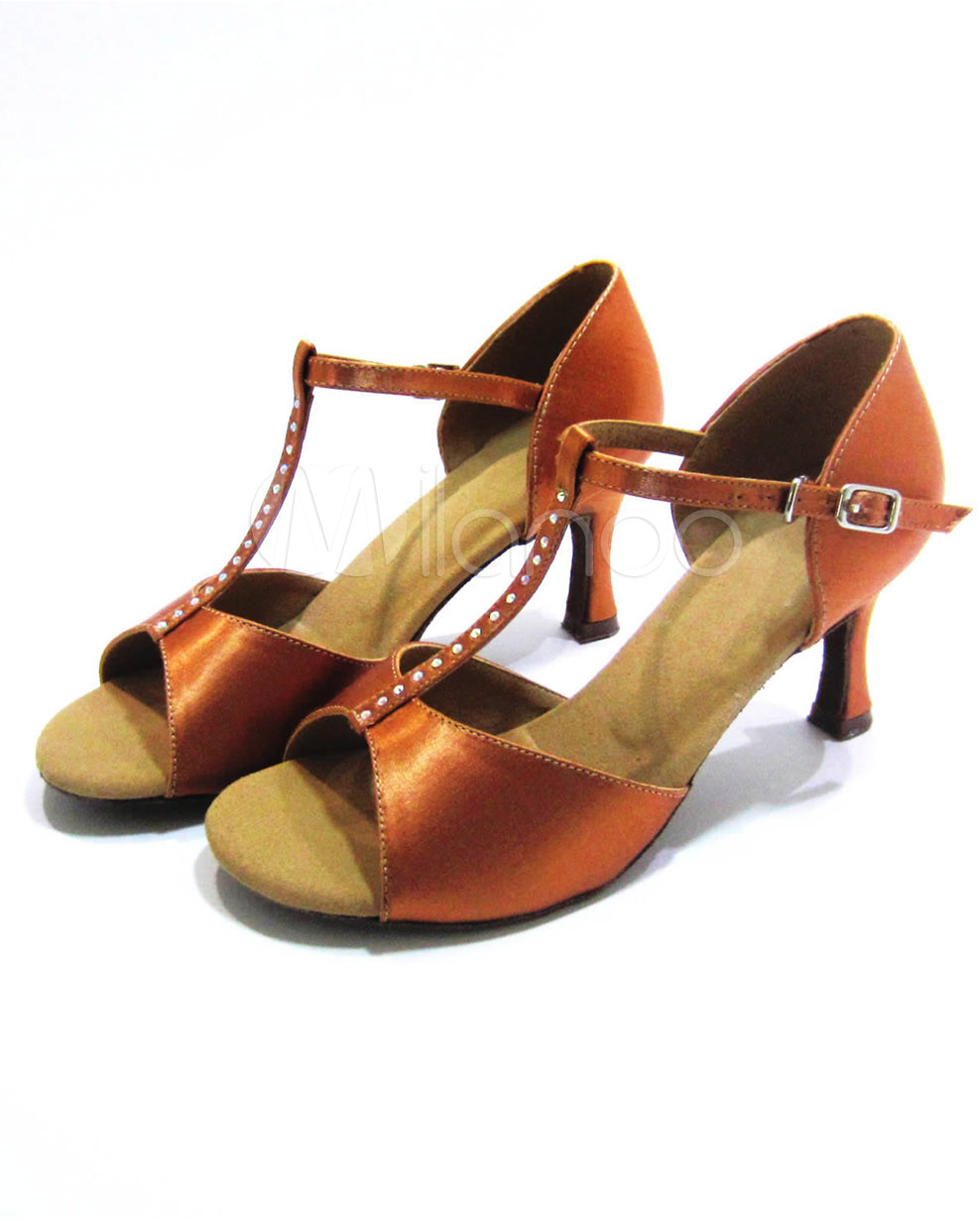 #Milanoo.com Ltd          #Latin Shoes              #Sexy #Bronze #Spool #Heel #Satin #Professional #Customized #Latin #Shoes     Sexy Bronze Spool Heel Satin Professional Customized Latin Shoes                                        http://www.seapai.com/product.aspx?PID=5711265