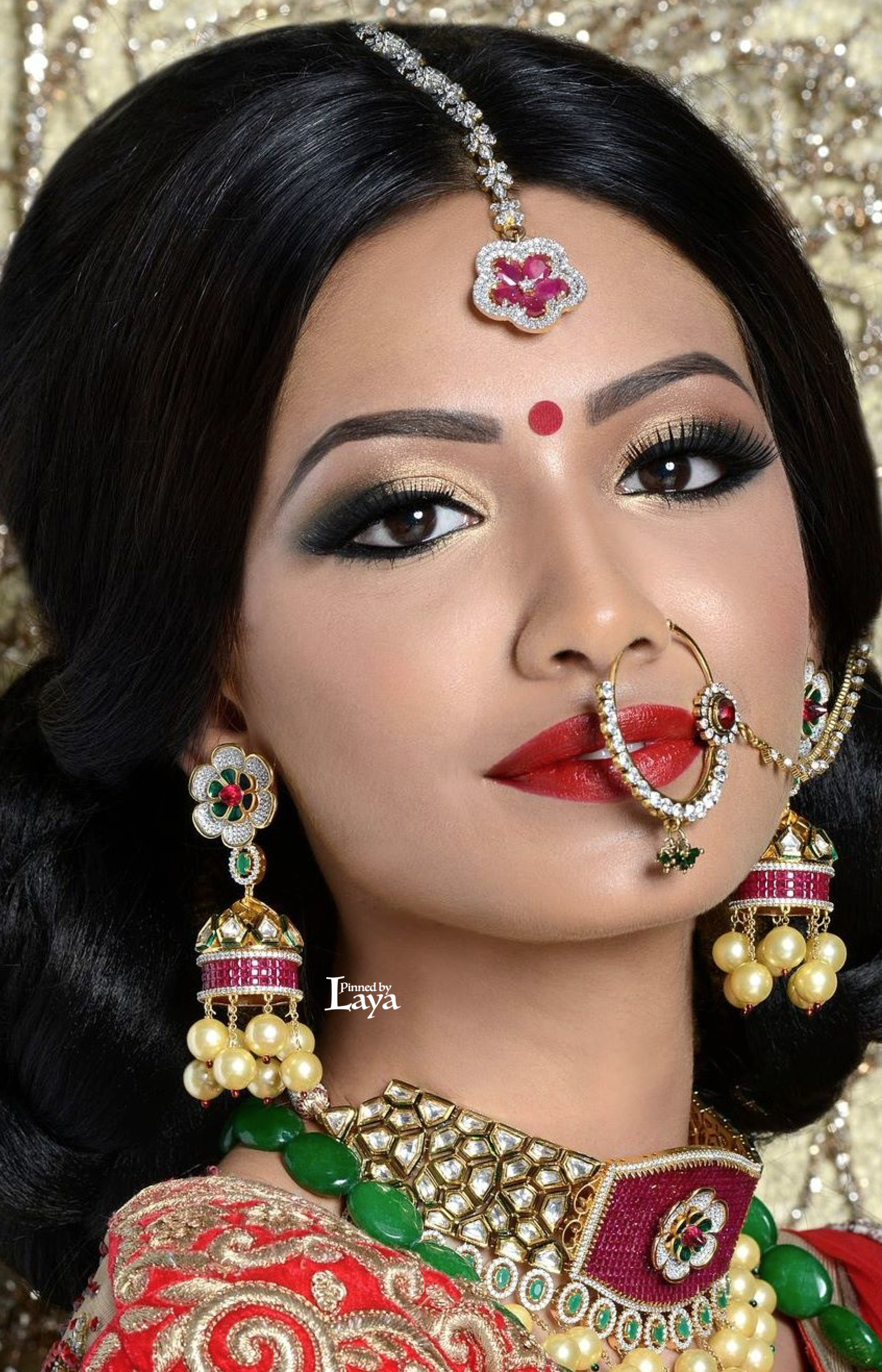Indian Bride wearing #nosering | Indian Bridal Wear Collection ...