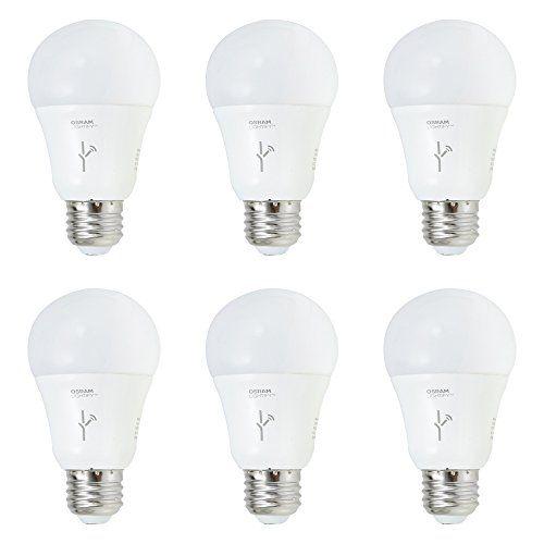 Sylvania Lightify 60watt A19 Tunable White Smart Home Led Light Bulb 6 Pack Smart Led Smart Home Light Bulb Smart Home Automation