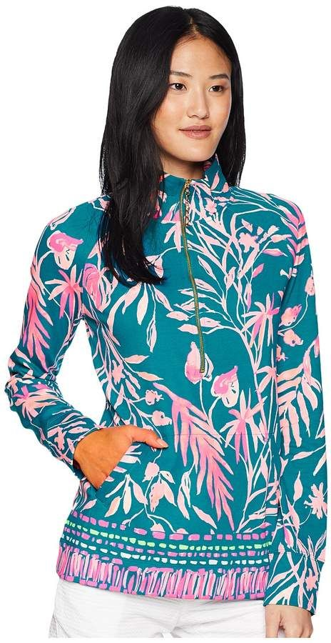 e280d0528eee68 Lilly Pulitzer UPF 50+ Skipper Popover Women's Long Sleeve Pullover ...