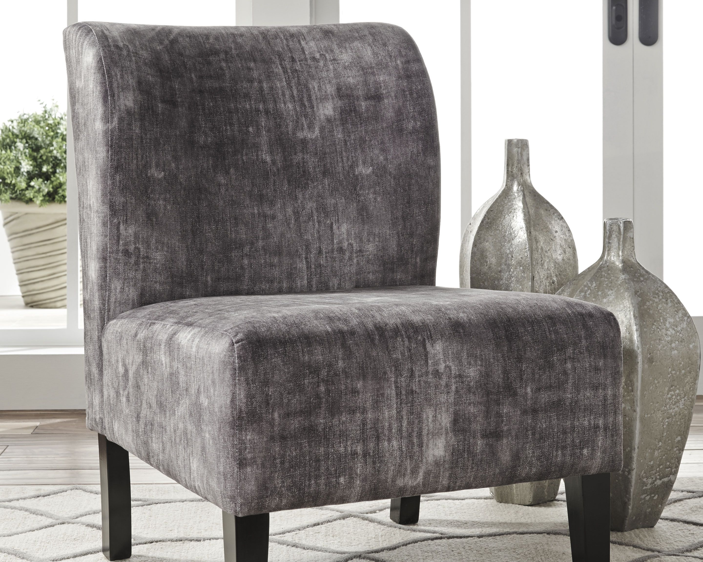 Triptis Accent Chair Charcoal Accent Chairs Living Room Chairs