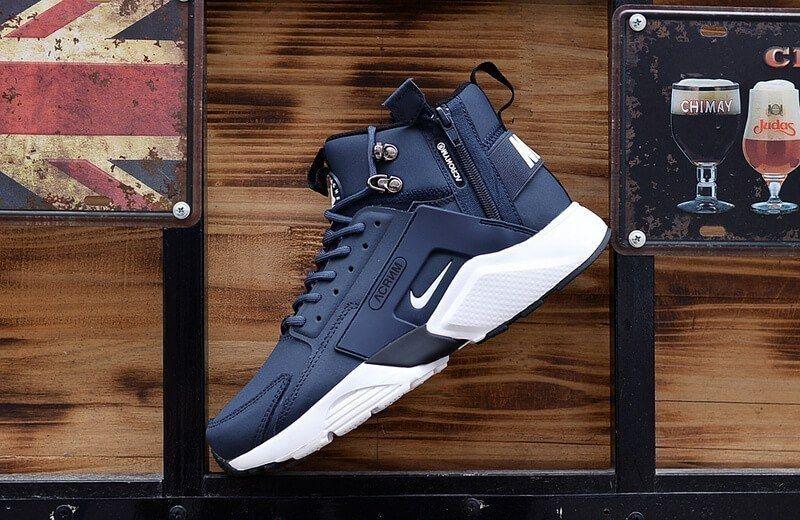 7781cd72c8a9 Snickers Navywhite City X Leather Nike Huarache Mid Acronym YH4n0B0q