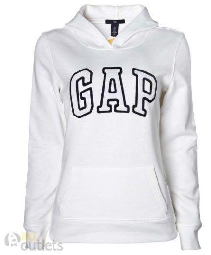 moletom Gap feminino branco com preto  ece6a4285717f