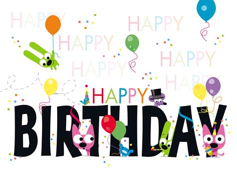 A Hoops Yoyo Happy Birthday