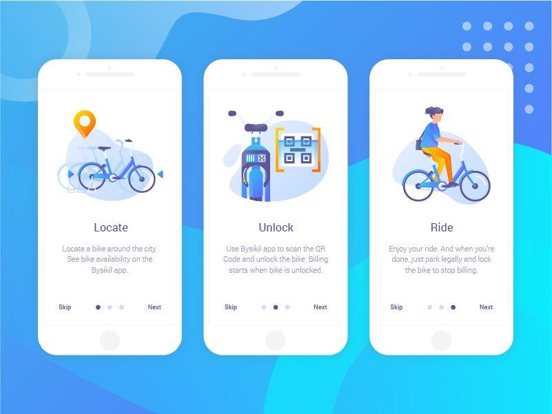 Bysikil Bike Sharing App Onboarding Onboarding App Bike Share