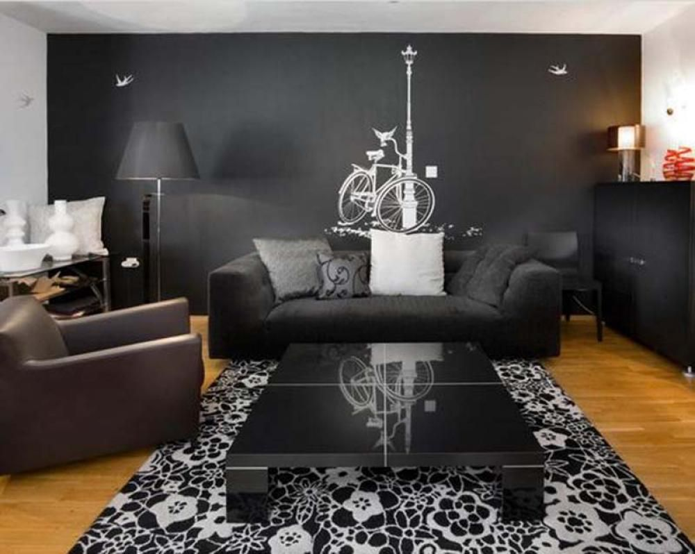 Black Wall Decor Simple Living Rooms With Black Walls  Google Search  My Home My Castle Review