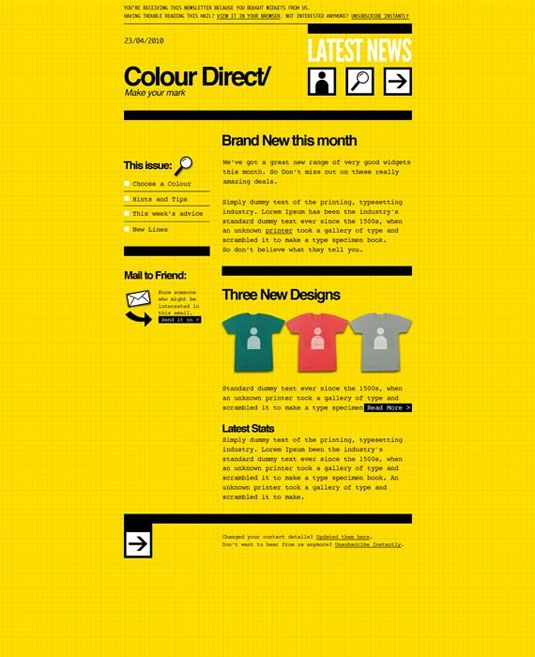 8 Free Newsletter Templates Web Marketing Pinterest Newsletter