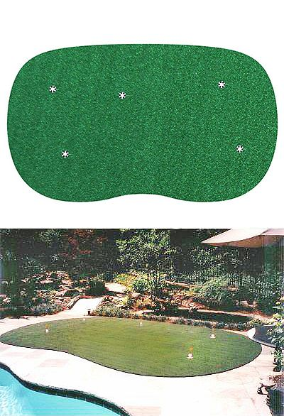 Starpro Greens 9 Ft X15 Ft Indoor Outdoor Synthetic Turf 5 Hole Practice Putting Golf Green Sp9x15 The Home Green Backyard Backyard Putting Green Backyard