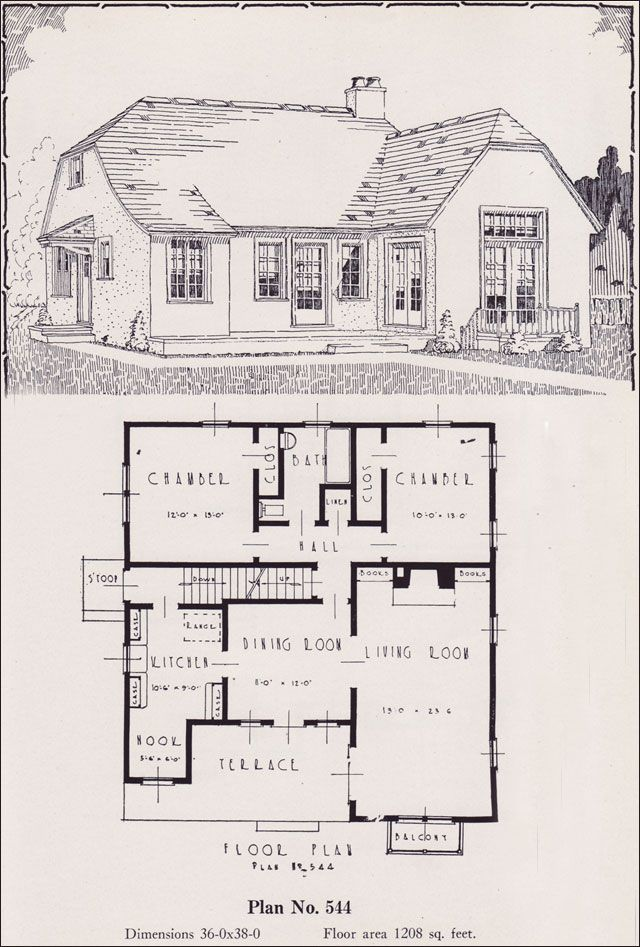 1926 Portland Home Plan by Universal House Plans - No. 544 We ...