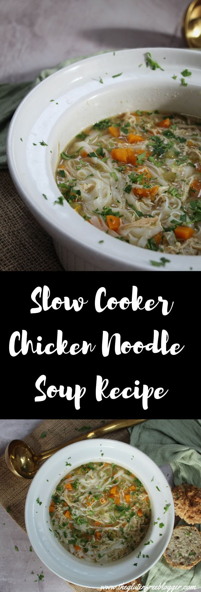 slow cooker chicken noodle soup gluten free dairy free
