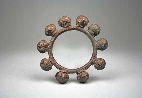 Anklet Date: 19th–20th century Geography: Côte d'Ivoire, western Côte d'Ivoire Culture: Dan peoples Medium: Brass