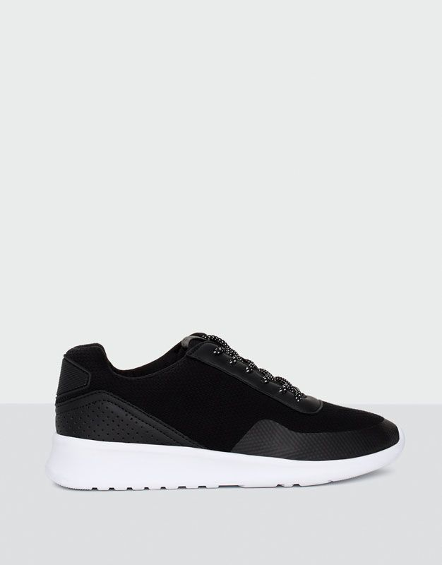 big sale df6e1 89dc2 Pull Bear - femme - chaussures - tout afficher - baskets tissu - noir -  11500111-I2016