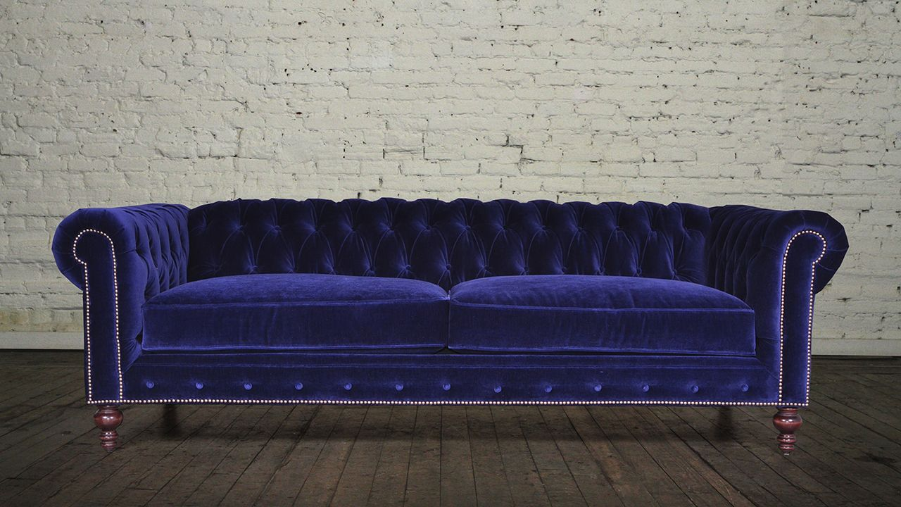 Classic Chesterfield Fabric Sleeper Sofa Maker of Custom Luxury Furniture Brand, Chesterfield