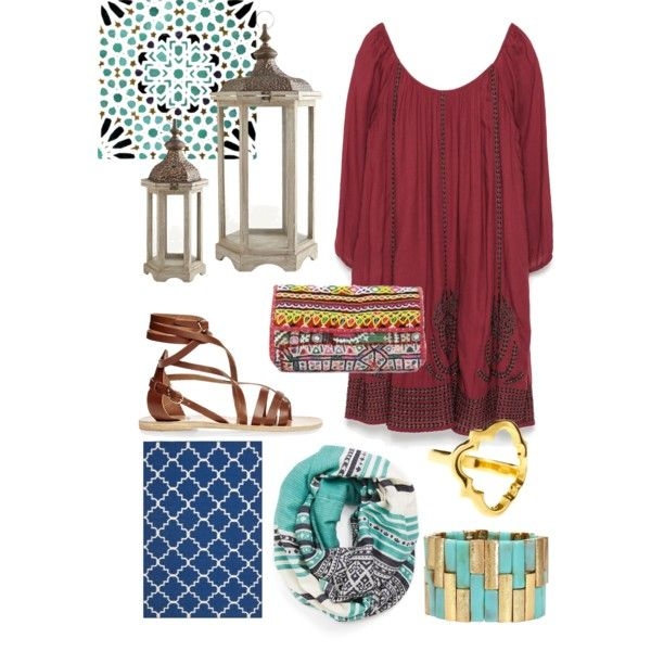 Marrakech by olive-izzet on Polyvore featuring polyvore, fashion, style, Zara, Ancient Greek Sandals, Michael Stars and Safavieh