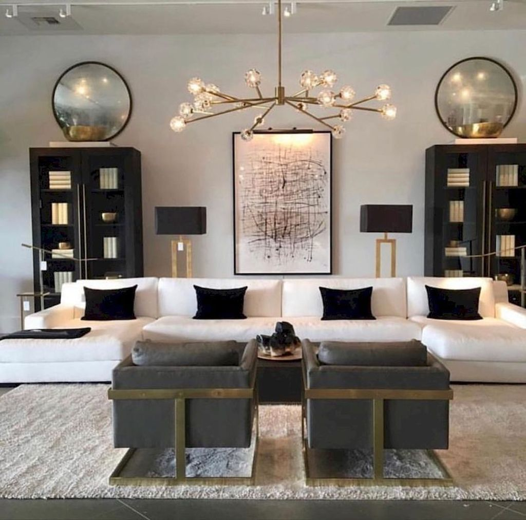 34 Stunning Interior Design Ideas For Your Living Room Pimphomee Living Room Lighting Living Room Designs Luxury Home Decor